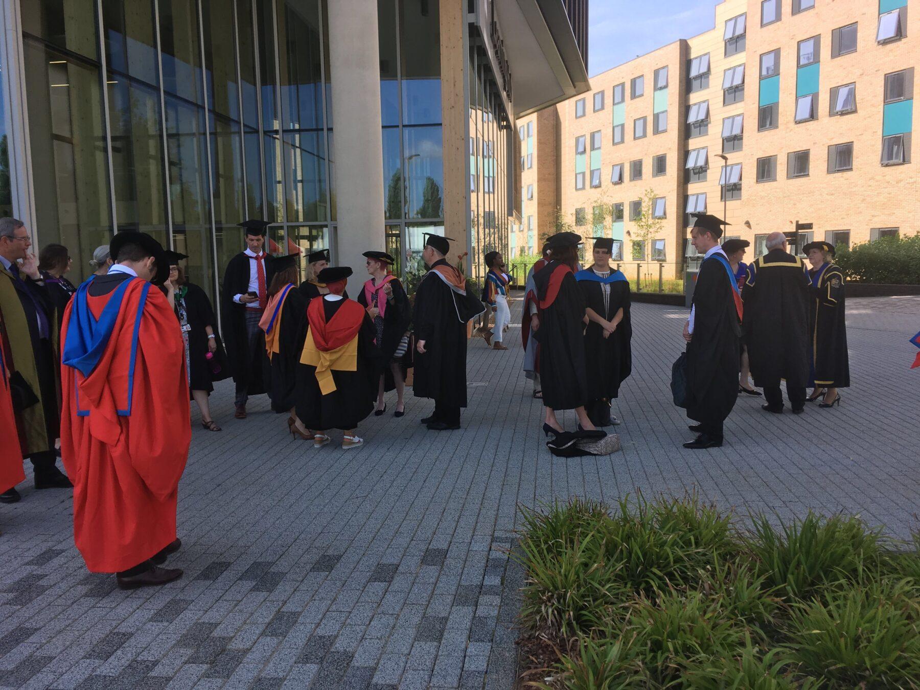 Graduation day at the university of Northampton